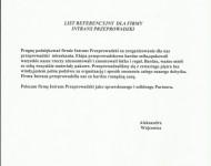 Referencje - Aleksandra Wójtowicz