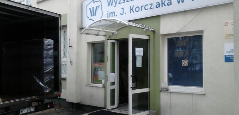 Przeprowadzka działu księgowości w Szkole Pedagogicznej im. J.Korczaka w Warszawie